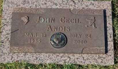ANDIS, JOHN CECIL - Greene County, Arkansas | JOHN CECIL ANDIS - Arkansas Gravestone Photos