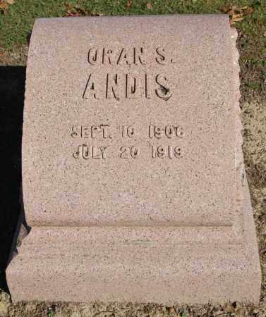 ANDIS, ORAN S. - Greene County, Arkansas | ORAN S. ANDIS - Arkansas Gravestone Photos