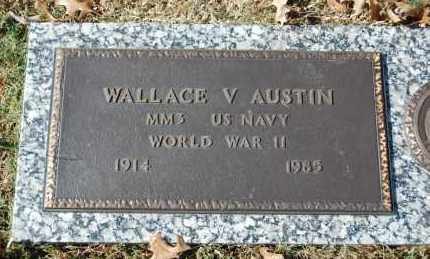 AUSTIN (VETERAN WWII), WALLACE V - Greene County, Arkansas | WALLACE V AUSTIN (VETERAN WWII) - Arkansas Gravestone Photos