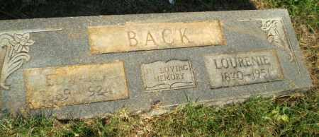 BACK, LOURENIE - Greene County, Arkansas | LOURENIE BACK - Arkansas Gravestone Photos