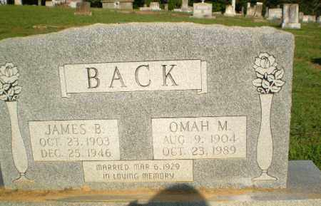 BACK, OMAH H. - Greene County, Arkansas | OMAH H. BACK - Arkansas Gravestone Photos