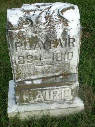 BAIRD, PLAY FAIR - Greene County, Arkansas | PLAY FAIR BAIRD - Arkansas Gravestone Photos