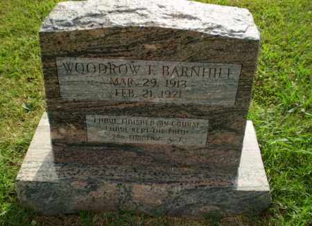 BARNHILL, WOODROW F - Greene County, Arkansas | WOODROW F BARNHILL - Arkansas Gravestone Photos