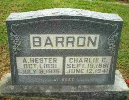 BARRON, A. HESTER - Greene County, Arkansas | A. HESTER BARRON - Arkansas Gravestone Photos