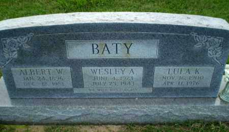 BATY, ALBERT W - Greene County, Arkansas | ALBERT W BATY - Arkansas Gravestone Photos