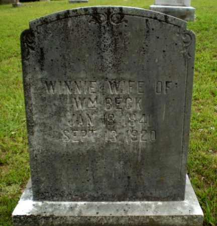 BECK, WINNIE - Greene County, Arkansas   WINNIE BECK - Arkansas Gravestone Photos