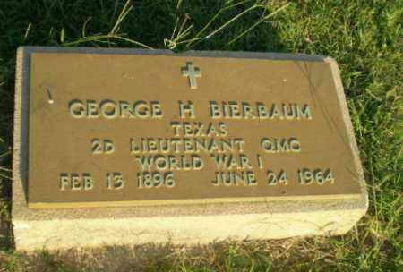 BIERBAUM  (VETERAN WWI), GEORGE H - Greene County, Arkansas | GEORGE H BIERBAUM  (VETERAN WWI) - Arkansas Gravestone Photos