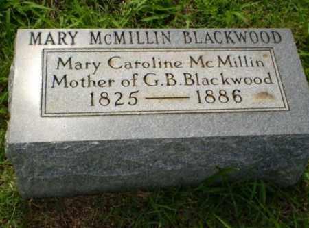 MCMILLIN BLACKWOOD, MARY - Greene County, Arkansas   MARY MCMILLIN BLACKWOOD - Arkansas Gravestone Photos