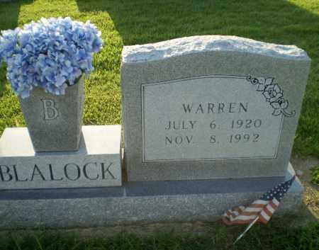 BLALOCK, WARREN - Greene County, Arkansas   WARREN BLALOCK - Arkansas Gravestone Photos