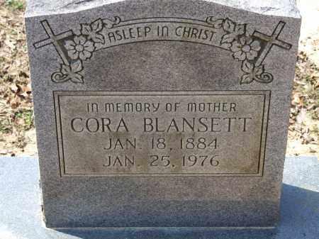 BLANSETT, CORA - Greene County, Arkansas | CORA BLANSETT - Arkansas Gravestone Photos