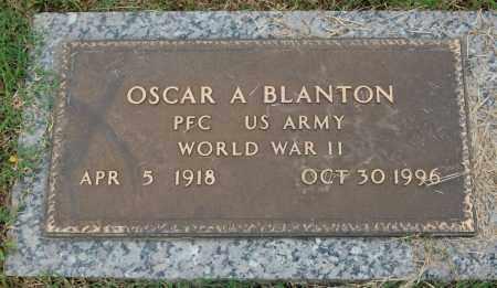 BLANTON (VETERAN WWII), OSCAR A - Greene County, Arkansas | OSCAR A BLANTON (VETERAN WWII) - Arkansas Gravestone Photos