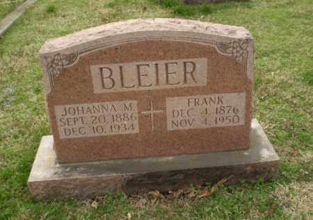 BLEIER, JOHANNA - Greene County, Arkansas | JOHANNA BLEIER - Arkansas Gravestone Photos