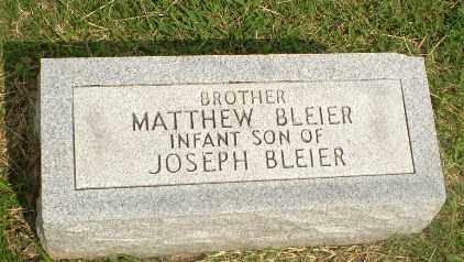 BLEIER, MATTHEW (INFANT) - Greene County, Arkansas | MATTHEW (INFANT) BLEIER - Arkansas Gravestone Photos