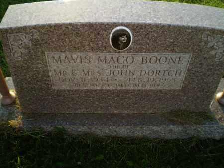DORTCH BOONE, MAVIS MACO - Greene County, Arkansas | MAVIS MACO DORTCH BOONE - Arkansas Gravestone Photos