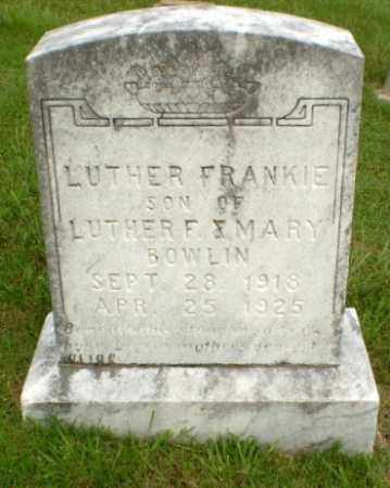 BOWLIN, LUTHER FRANKIE - Greene County, Arkansas | LUTHER FRANKIE BOWLIN - Arkansas Gravestone Photos