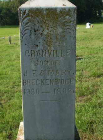 BRECKENRIDGE, CRANVILLE - Greene County, Arkansas   CRANVILLE BRECKENRIDGE - Arkansas Gravestone Photos