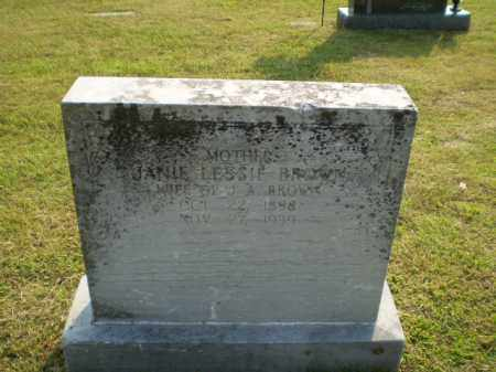 LESSIE BROWN, JANIE - Greene County, Arkansas | JANIE LESSIE BROWN - Arkansas Gravestone Photos