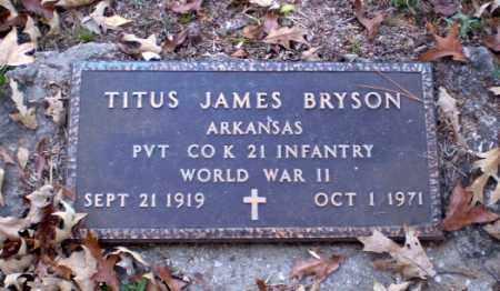 BRYSON (VETERAN WWII), TITUS JAMES - Greene County, Arkansas   TITUS JAMES BRYSON (VETERAN WWII) - Arkansas Gravestone Photos
