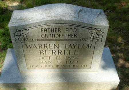 BURRELL, WARREN TAYLOR - Greene County, Arkansas | WARREN TAYLOR BURRELL - Arkansas Gravestone Photos