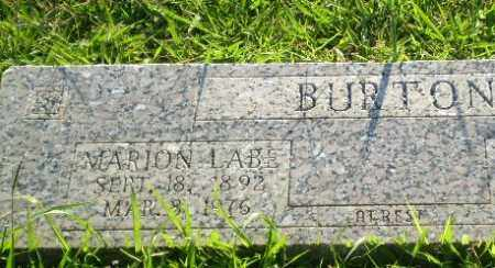 BURTON, MARION LABE - Greene County, Arkansas | MARION LABE BURTON - Arkansas Gravestone Photos