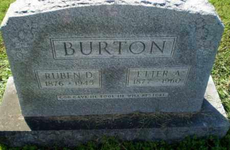 BURTON, RUBEN D - Greene County, Arkansas | RUBEN D BURTON - Arkansas Gravestone Photos