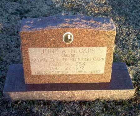 CARR, JUNE ANN - Greene County, Arkansas   JUNE ANN CARR - Arkansas Gravestone Photos