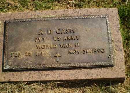 CASH  (VETERAN WWII), A D - Greene County, Arkansas | A D CASH  (VETERAN WWII) - Arkansas Gravestone Photos