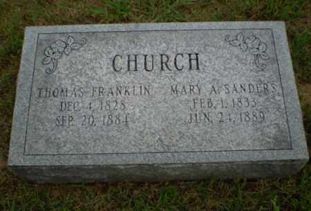 SANDERS CHURCH, MARY A. - Greene County, Arkansas | MARY A. SANDERS CHURCH - Arkansas Gravestone Photos