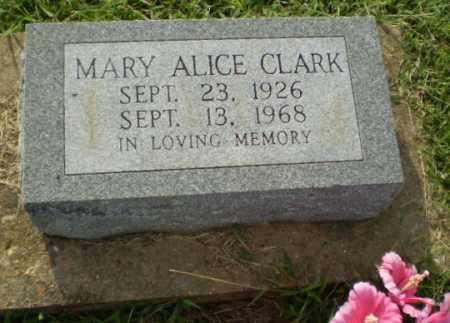 CLARK, MARY ALICE - Greene County, Arkansas   MARY ALICE CLARK - Arkansas Gravestone Photos