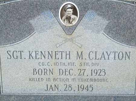 CLAYTON (VETERAN WWII, KIA), KENNETH M. - Greene County, Arkansas | KENNETH M. CLAYTON (VETERAN WWII, KIA) - Arkansas Gravestone Photos