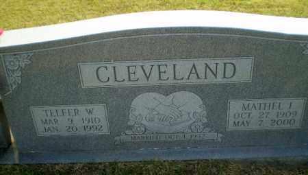 CLEVELAND, TELFER W - Greene County, Arkansas   TELFER W CLEVELAND - Arkansas Gravestone Photos