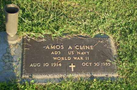 CLINE (VETERAN WWII), AMOS A - Greene County, Arkansas | AMOS A CLINE (VETERAN WWII) - Arkansas Gravestone Photos