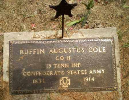 COLE  (VETERAN CSA), RUFFIN AUGUSTUS - Greene County, Arkansas   RUFFIN AUGUSTUS COLE  (VETERAN CSA) - Arkansas Gravestone Photos