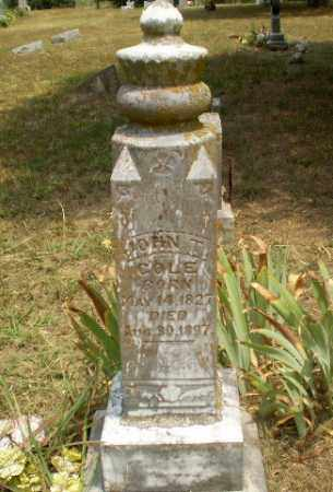 COLE, JOHN T - Greene County, Arkansas   JOHN T COLE - Arkansas Gravestone Photos