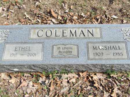 COLEMAN, MARSHALL - Greene County, Arkansas | MARSHALL COLEMAN - Arkansas Gravestone Photos