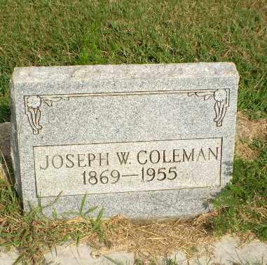 COLEMAN, JOSEPH W - Greene County, Arkansas | JOSEPH W COLEMAN - Arkansas Gravestone Photos