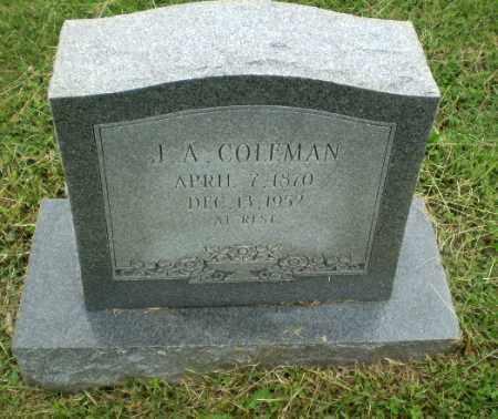 COLEMAN, J.A. - Greene County, Arkansas | J.A. COLEMAN - Arkansas Gravestone Photos