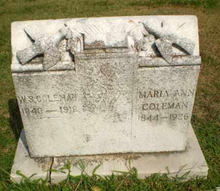 COLEMAN, W.S. - Greene County, Arkansas | W.S. COLEMAN - Arkansas Gravestone Photos