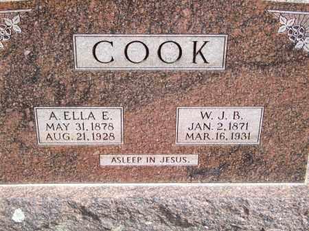COOK, A. ELLA E. - Greene County, Arkansas | A. ELLA E. COOK - Arkansas Gravestone Photos