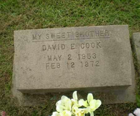 COOK, DAVID E - Greene County, Arkansas | DAVID E COOK - Arkansas Gravestone Photos