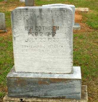 COTHREN  (VETERAN CSA), W H - Greene County, Arkansas | W H COTHREN  (VETERAN CSA) - Arkansas Gravestone Photos