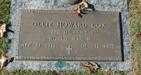 COX (VETERAN WWII), OLLIE HOWARD - Greene County, Arkansas | OLLIE HOWARD COX (VETERAN WWII) - Arkansas Gravestone Photos