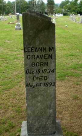 CRAVEN, LEEANN M - Greene County, Arkansas   LEEANN M CRAVEN - Arkansas Gravestone Photos
