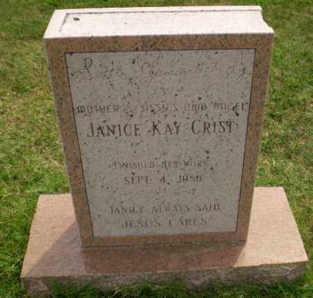 CRIST, JANICE KAY - Greene County, Arkansas | JANICE KAY CRIST - Arkansas Gravestone Photos