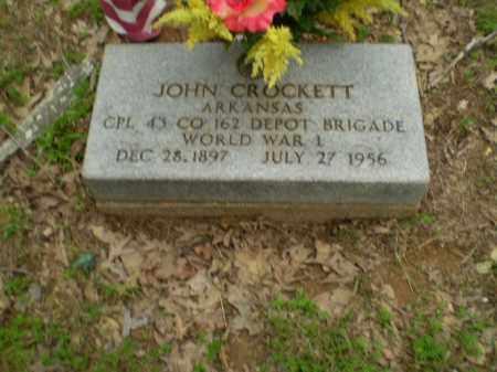 CROCKETT  (VETERAN WWI), JOHN - Greene County, Arkansas | JOHN CROCKETT  (VETERAN WWI) - Arkansas Gravestone Photos