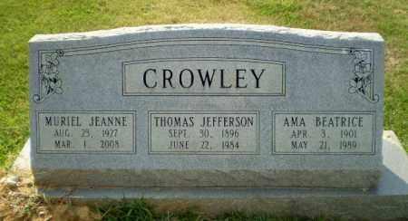 CROWLEY, MURIEL JEANNE - Greene County, Arkansas | MURIEL JEANNE CROWLEY - Arkansas Gravestone Photos