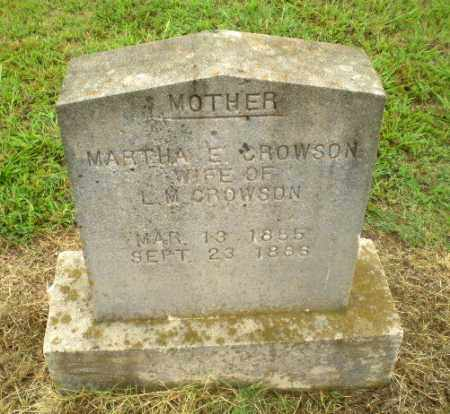 CROWSON, MARTHA E - Greene County, Arkansas | MARTHA E CROWSON - Arkansas Gravestone Photos