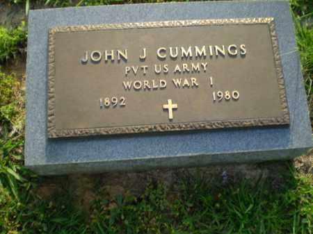 CUMMINGS  (VETERAN WWI), JOHN J - Greene County, Arkansas   JOHN J CUMMINGS  (VETERAN WWI) - Arkansas Gravestone Photos