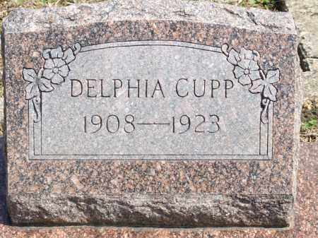 CUPP, DELPHIA - Greene County, Arkansas | DELPHIA CUPP - Arkansas Gravestone Photos
