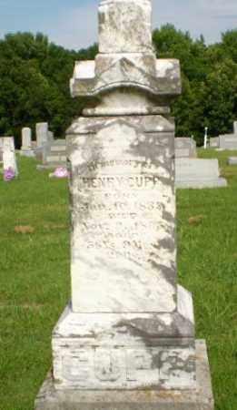 CUPP, HENRY - Greene County, Arkansas | HENRY CUPP - Arkansas Gravestone Photos